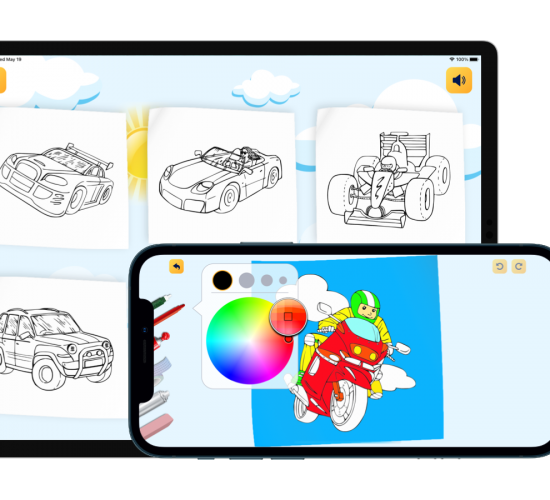Boys Coloring Book. Draw on go