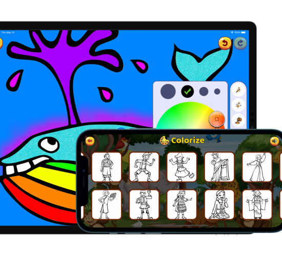 Kids Coloring Book. Draw on go