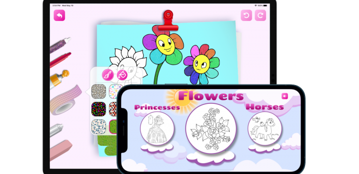 Girls Coloring Book Draw on go